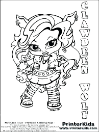 free printable monster high colouring pages cupcake toppers baby coloring dolls