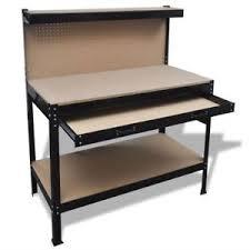 garage work station. VidaXL Garage Workshop Work Bench Table Workstation Workbench Steel Tool Storage Station