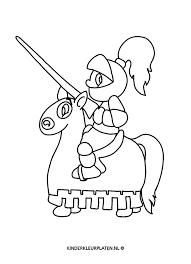 Kleurplaat Ridder Te Paard Beroepen