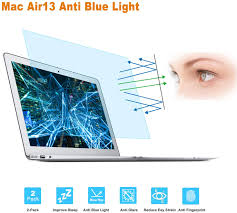 Blue Light Blocker For Macbook Pro 2 Pack Screen Protector Blue Light Filter Compatible For Macbook Air 13 13 3 Model A1369 A1466 Eye Protection Blue Light Blocking Anti Glare