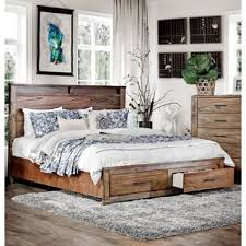 rustic wood bed frame. Unique Frame Furniture Of America Casso Rustic Antique Oak Wood Platform Storage Bed Throughout Frame D