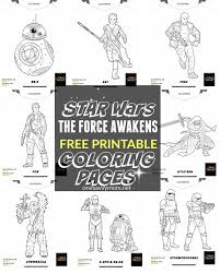 Small Picture FREE Printable Star Wars The Force Awakens Coloring Pages