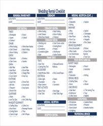 36 printable checklist templates free & premium templates Wedding Rental Checklist checklist for wedding rental wedding rentals checklist