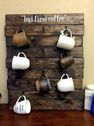 countertop cup holder mug holders wrought iron holder in coffee