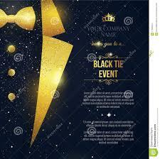 Black Tie Event Invitation Elegant Black Card With Golden Spar