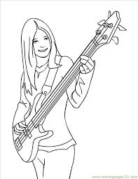 The most common guitar coloring page material is metal. Bass Guitar Colouring Pages Coloring Home