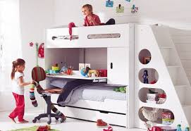 bunk bed with slide and desk. Kids Bunk Bed Sets Satisfy The Children » White With Slide Study Desk And L