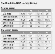 Adidas Nba Jersey Size Chart Online Shopping