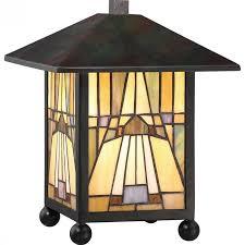 quoizel inglenook desk lamp in valiant bronze