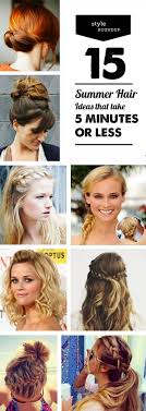 5 Minute Hairstyles For Girls 15 Summer Hairstyles That Take 5 Minutes Or Less Modern Parents