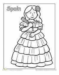 Small Picture Multicultural Coloring Spain Spanish girls Spanish and Spain