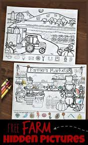 Printable word search puzzles covering a variety of topics, each containing a hidden message. Free Farm Hidden Pictures Printable