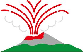 無料イラスト] 火山の噴火 - パブリックドメインQ:著作権フリー画像素材集