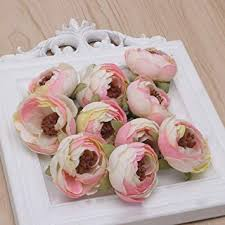 Hacloser 10 Pcs/set Artificial Flower Heads Fake ... - Amazon.com