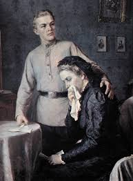 vladimir lenin a painting of lenin consoling his mother after the execution of his brother