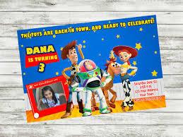 Print Birthday Invitation 12 Toy Story Invitation Party Birthday Invitations Printed