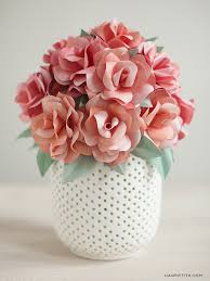 Paper Flower Bouquet In Vase How To Make A Paper Rose Wedding Bouquet Lia Griffith