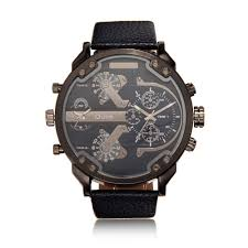 online buy whole nice mens watches from nice mens fashion men watch dual time zone big dial leather band men quartz military wristwatch relogio masculino