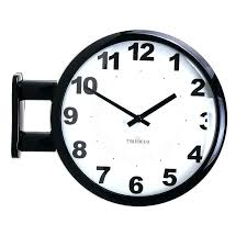 modern art wall clock design double sided station home decor details about museum