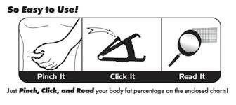 Accu Measure Body Fat Chart Accu Measure Fitness 3000 Body Fat Caliper