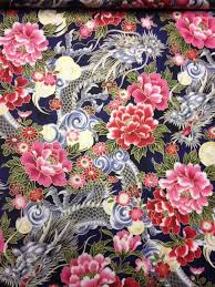 60 best Leg Fabric images on Pinterest | Fabric design, Wallpaper ... & CS250 Dragons Asian Flowers Tattoo Japanese Art Cotton Fabric Quilt Fabric  | eBay Adamdwight.com