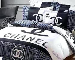 coco chanel bedding set black and white bedding set
