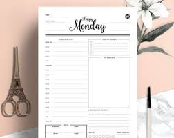 Daily Planner Printout Printable Planner Etsy