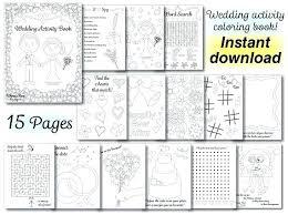 decoration wedding coloring book kids activity decoration wedding coloring book kids activity