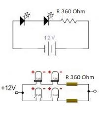 simple led lights circuit for motorcycles led circuit simple led lights circuit for motorcycles