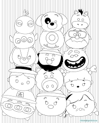 Star Wars Tsum Tsum Coloring Pages Coloring Page Coloring Page