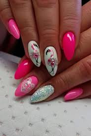 Pin by Myra McDaniel on cecilia negle | Flamingo nails, Pink nails, Nail  art designs