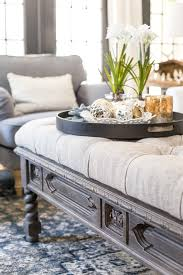 ottoman coffee table. DIY Ottoman Bench From A Repurposed Thrift Store Coffee Table   Blesserhouse.com - How H