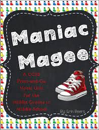 maniac magee novel study novels language arts and   maniac magee essay academic english merifully teaching study guide maniac maniac magee lesson plans 6th grade