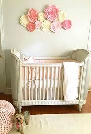 paper flower wall decor for nursery art pink girls fl metal