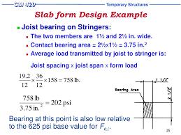 Joist Design Example Ppt Slab Form Design Powerpoint Presentation Free