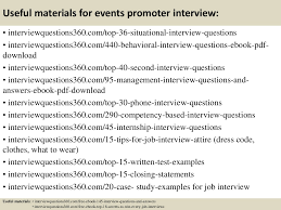 Customer Service Interview Questions Useful materials for events promoter interview 1