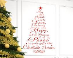 Christmas Decor, Christmas Wall Decal, Christmas Prayer Vinyl Lettering Wall  Decal, Christmas tree
