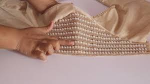 Pearl Designer Blouses Online How To Make Designer Pearl Work Blouse Simple Craft Ideas