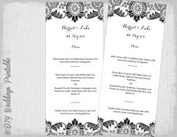 Menu Templates Microsoft Word Menu Template Black And White DIY Wedding Menu Antique 22