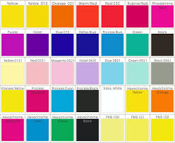 Pms Color Chart Choose Your Own Silicone Bracelets