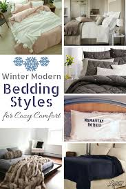 make your bed comfy and cozy with these modern bedding styles and ideas for winter
