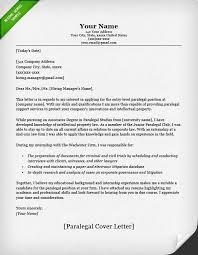 Cover Letter Template Paralegal Cover Letter For Resume