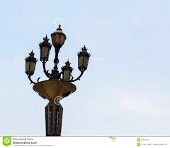 Vintage Outdoor Light Posts A Vintage Four Way Outdoor Light Post Stock Photo Image Of