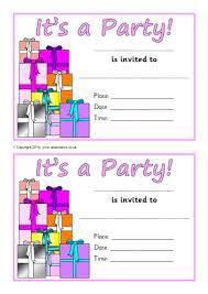 Party Borders For Invitations Invitation Writing Frames And Printable Page Borders Ks1