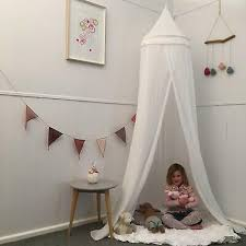 BED CANOPY WITH Tassels, Drapes Hideaway Tent Canopies for Girls,Boys,Kids Rooms