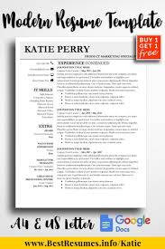 Resume Template Katie Perry Resume Templates For Google Docs