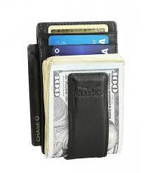 leather wallet pocket blocking magnetic