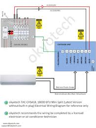okyotech 3d mini split ductless air conditioner cooling heating the 24 000 btu electrical wiring diagram below is also applicable the following okyotech models