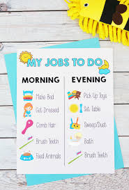 Kids Routine Chart Printable Kids Morning And Evening Routine Chart I Heart