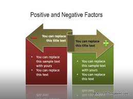 powerpoint comparisons templates showing positives negatives page  powerpoint positive negative comparisons 01